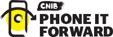 CNIB Phone it forward logo
